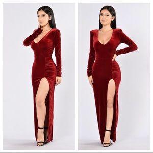 Fashion Nova Love Sex Magic Velvet gown